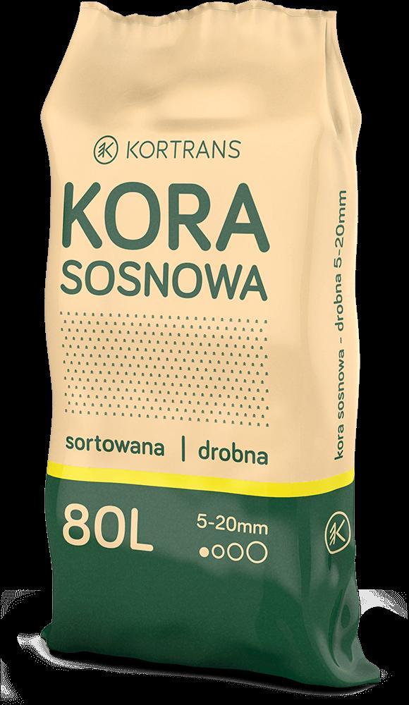 Kora sosnowa - sorotowana drobna 80l